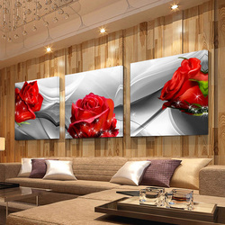 No frameprint canvas wall art roses and chrysanthemums decoration art oil painting modular pictures on the.jpg 250x250