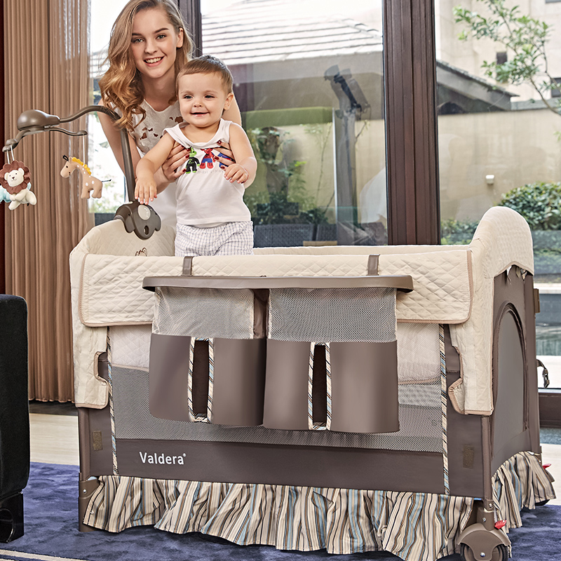 baby brand Beds Valdera Folding Multi-functional Baby Bed Eu Newborn Travel Europe Sleeping Brand Send All <font><b>Accessory</b></font>