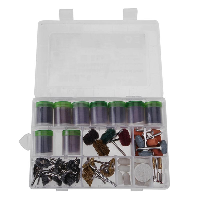 340pcs Rotary Tool Accessories Mini Electric Electric Grinder Accessory Drill Bit Set with 3.175mm Mandrel Abrasive Sanding Bits 80pcs electric rotary drill grinder polish sanding tool set kit dremel bit case with box