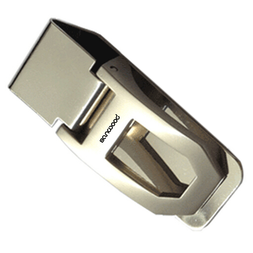 Stainless Steel Spring Money Cash Clip Pocket Slim ID Credit Card Money Holder BV8U