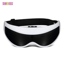 Electric Eyes Massager Vibration Infrared Heating Therapy Air Pressure Music Eye SPA Glasses Head Stress Relief Eyes Care Device цена в Москве и Питере