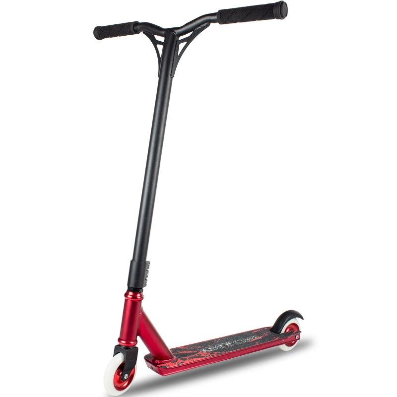 Scooter extrême professionnel avec roues en polyuréthane de 100mm, scooter d'action à grande vitesse de scooter de cascadeur