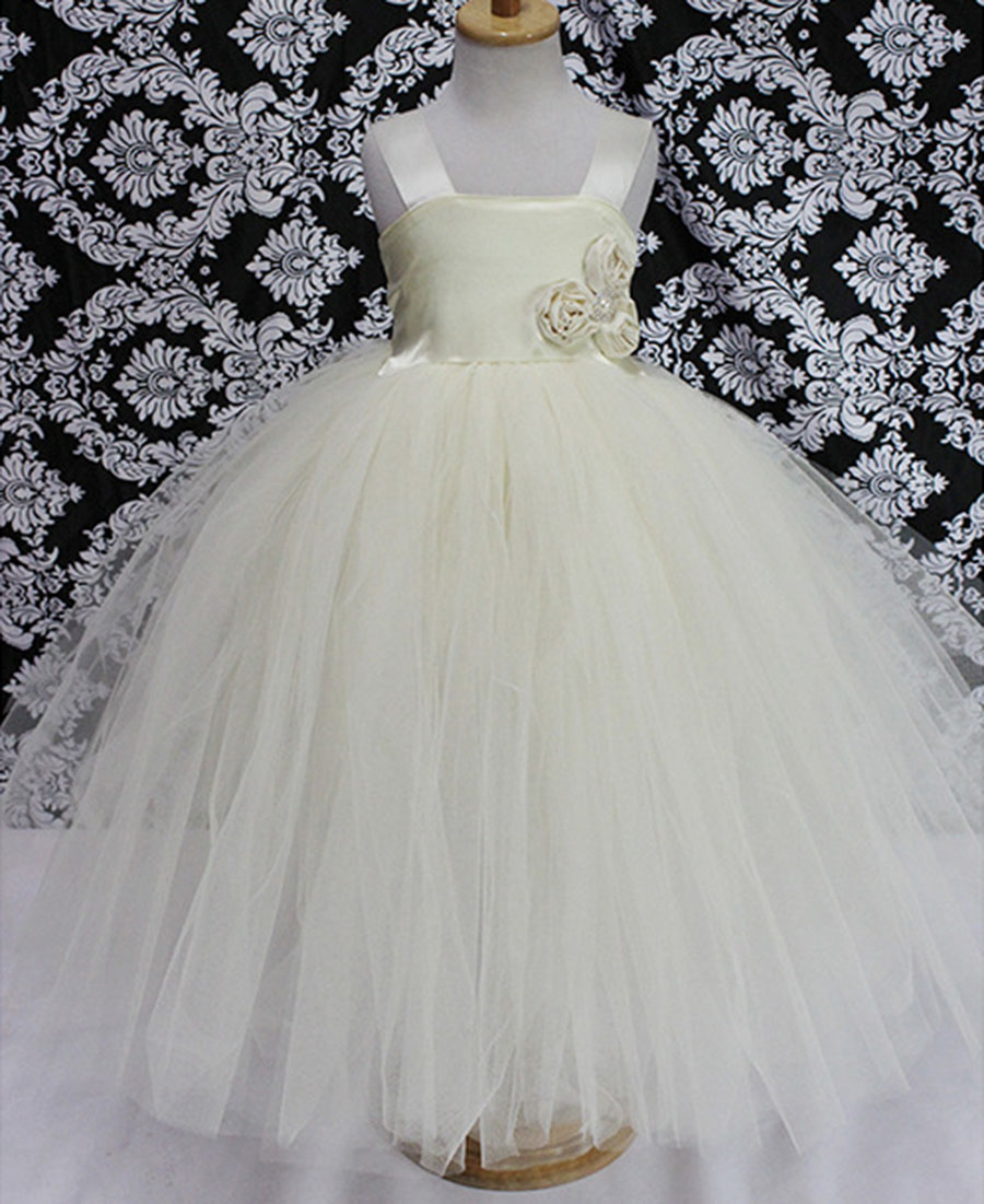 Fashion high quality tutu style crochet childrens ivory flower girl fashion high quality tutu style crochet childrens ivory flower girl dresses cheap in dresses from mother kids on aliexpress alibaba group izmirmasajfo