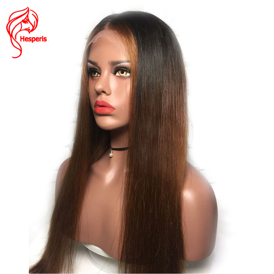 Hesperis Ombre Lace Front Wigs Brazilian Remy Lace Front Human Hair Wigs Pre Plucked 13x6 Lace Front Wigs Ombre Human Hair wigs