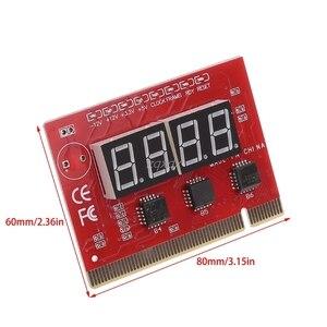 Image 2 - 新しいコンピュータ pci ポストカードマザーボード led 4 桁の診断テスト pc アナライザ whosale & ドロップシップ