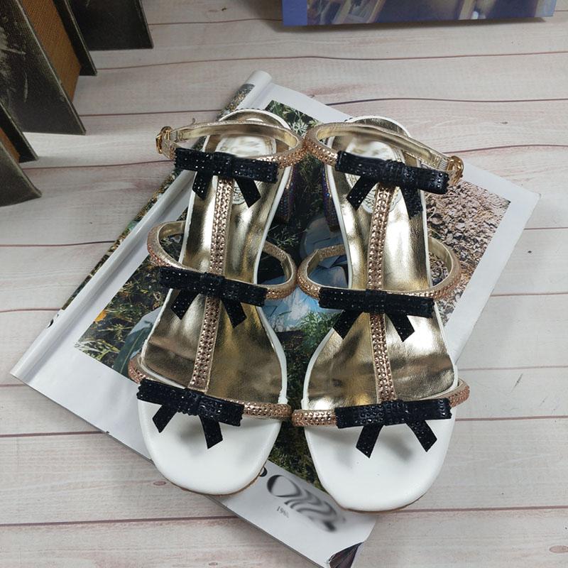 Femmes Zapatos Bowtie De Couleur Nouveau Slingback Sandalias Show Show Ouvert Dames Mode Mixte Bout as As Mujer Strass Chaussures Sandales Cristal wt4dxcaq0a