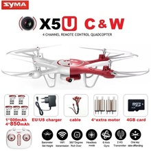 Syma x5uw & x5uc fpv zangão rc com 720 p wifi 2mp hd câmera 2.4G 4CH 6 Axis Quadcopter Dron Helicóptero Altura Segure Uma Tecla de Terra(China (Mainland))