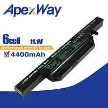 6 celle 4400mAh Batteria Del Computer Portatile per Clevo W650BAT 6 6 87 W650 4E42 K590C I3 K610C I5 K570N I3 K710C I7 G150S K650D K750D K4 K5 P4