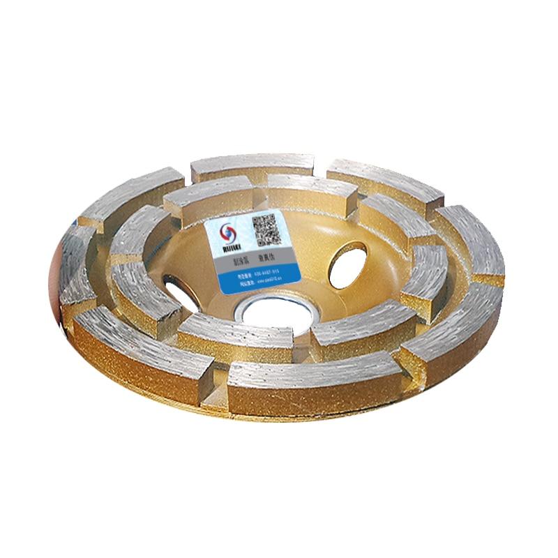 RIJILEI 4 palce 100 mm diamantový dvouřadý brusný kotouč - Elektrické nářadí - Fotografie 2