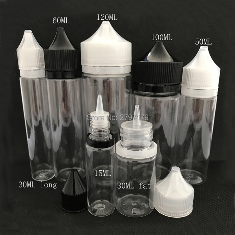1pcs Chubby Dropper Bottle15ml 30ml 50ml 60ml 100ml 120ml Plastic PET E Liquid Pen Shape Bottles With Tamper Evident Cap hangsen menthol flavor e liquid 100ml