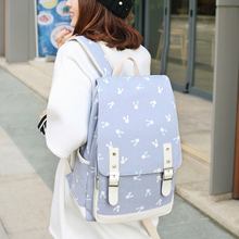 Backpack student bag Korean version of the college wind junior high school students backpack canvas small fresh wenjie brother canvas shoulder college wind high school student bag junior high school student travel backpack small fresh