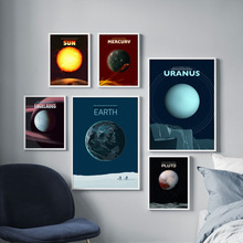 Solar System Mercury Mars Earth Wall Art Canvas Painting Nordic Posters And Prints Pictures For Living Room Study Home