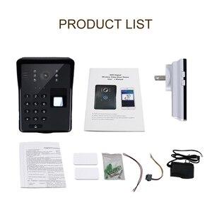 Image 5 - Wifi וידאו דלת טלפון חכם אלחוטי פעמון RFID סיסמא דלת טלפון אינטרקום טביעות אצבע נעילה נייד וידאו פעמון