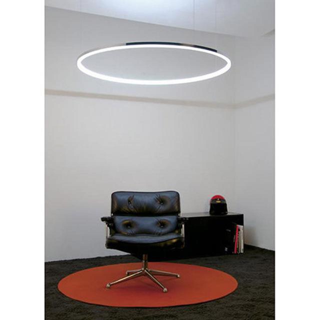 60 cm modern led rodada acrílico pingente de iluminação da lâmpada de luz