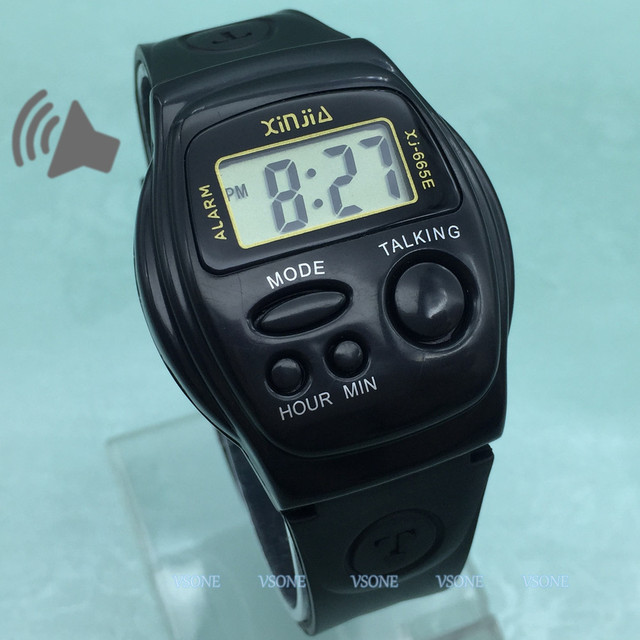 English Talking Wrist Watch Multifunctional Electronic Sports Watches with Alarm
