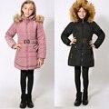Для-30 Градусов Зимой Теплое Пальто Водонепроницаемый Ветрозащитный Новорожденных Девочек Куртки Дети Одежда Дети Верхняя Одежда Для 9-16 Т