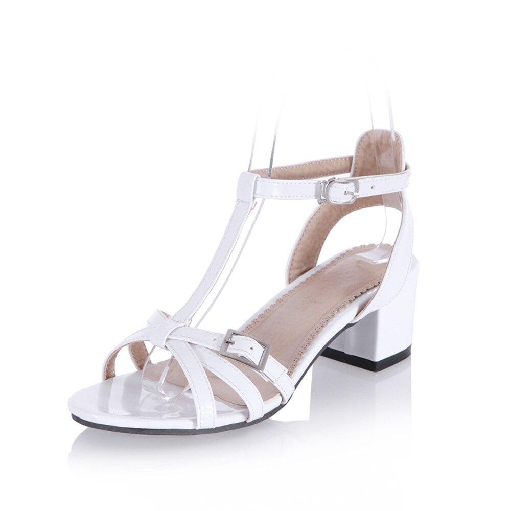 Boucle Chaude D'été Morazora or Solide Chaussures Peep Femmes Carré lavande Élégant Confortable Vente Sandales Noir Classique blanc Talon argent vert Simple Toe Xqxr5xzw