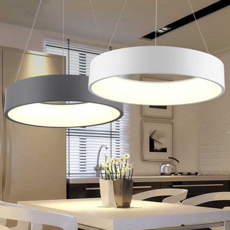 Simple Circle Ring Lamp Modern Round LED Pendant Light For Dining Room Bedroom Living Room Home Decor Lighting Fixture цена 2017