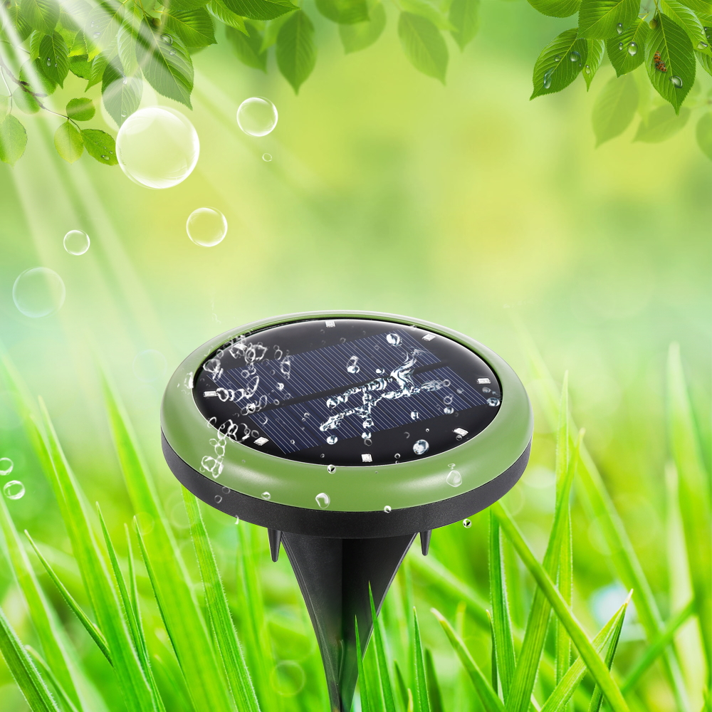 Espow IP65 Waterproof Solar Power Ground Stake Light Outdoor 8 Leds Road Street Path Garden Solar Home Light
