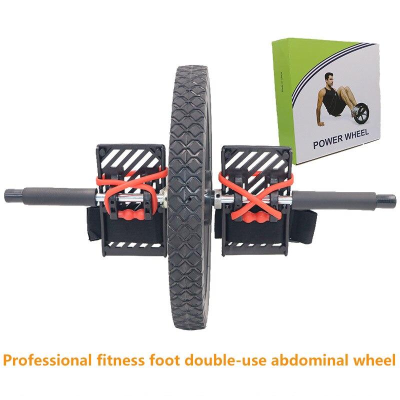 (Rueda doble) rueda de potencia de actualización multifuncional núcleo ejercicio doble rueda de músculo Abdominal rueda de energía
