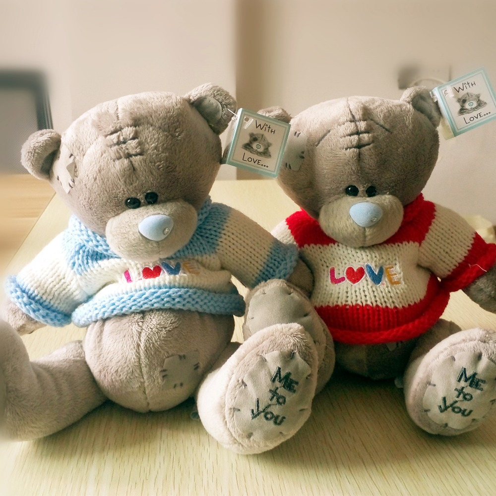 1pieces 8inch Cartoon Plush Tatty Teddy Bear Toys Jumbo
