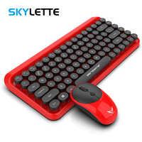 2.4G clavier sans fil souris Mini multimédia 84 touches clavier 1600 DPI souris Combo ensemble pour ordinateur portable Mac ordinateur de bureau fournitures de bureau