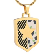 IJD10322 Stainless Steel Badge Cremation Pendant Memorial for Ashes Urn  Keepsake Souvenir Necklace for Men Jewelry стоимость