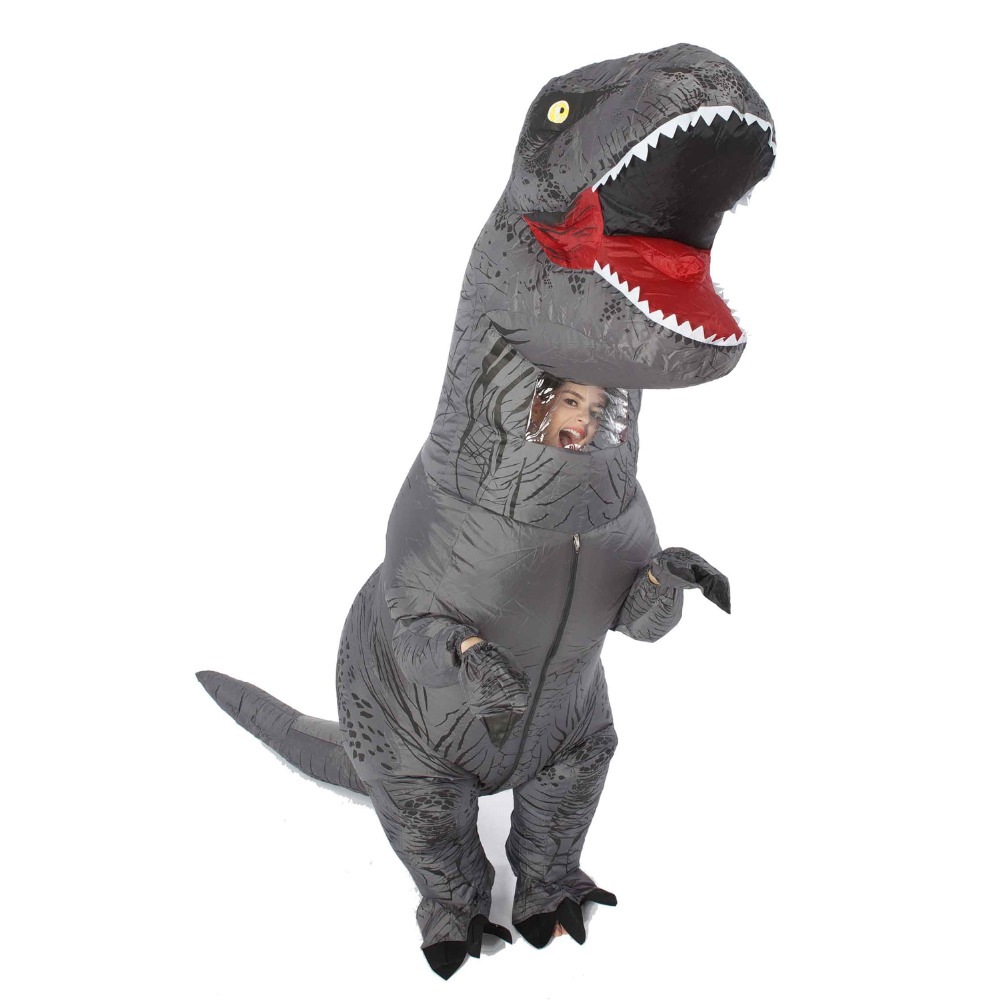 Special price T-Rex Dinosaur Inflatable Costume for Adult Women Men Halloween Christmas Cosplay Jumpsuit Movie Funny Fancy Dress