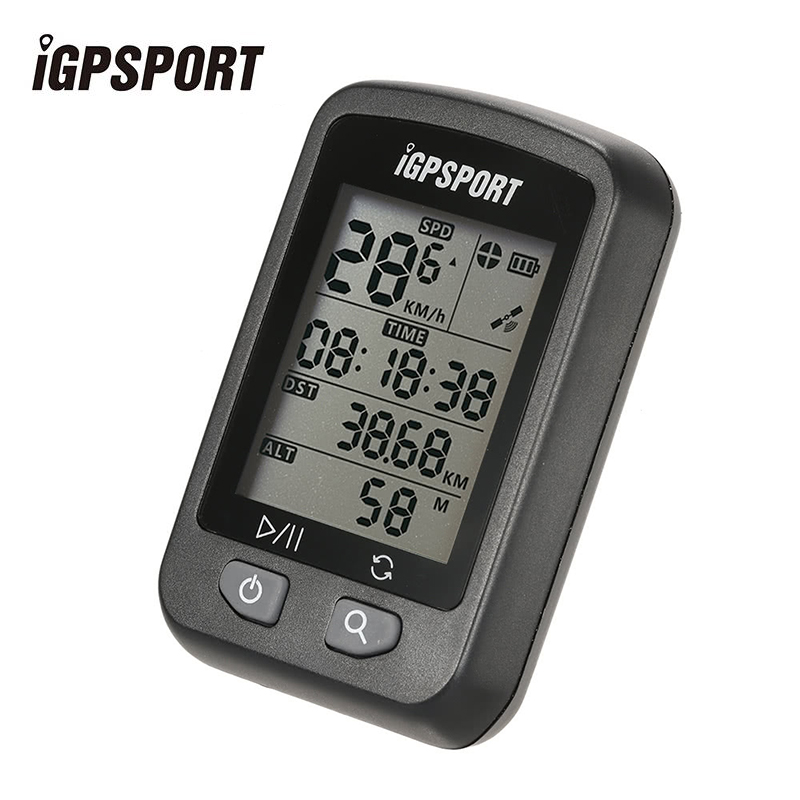 iGPSPORT iGS20E Bicycle Rechargeable Computer GPS Speedometer IPX6 Waterproof Backlight Screen Stopwatch with Mount Accessories