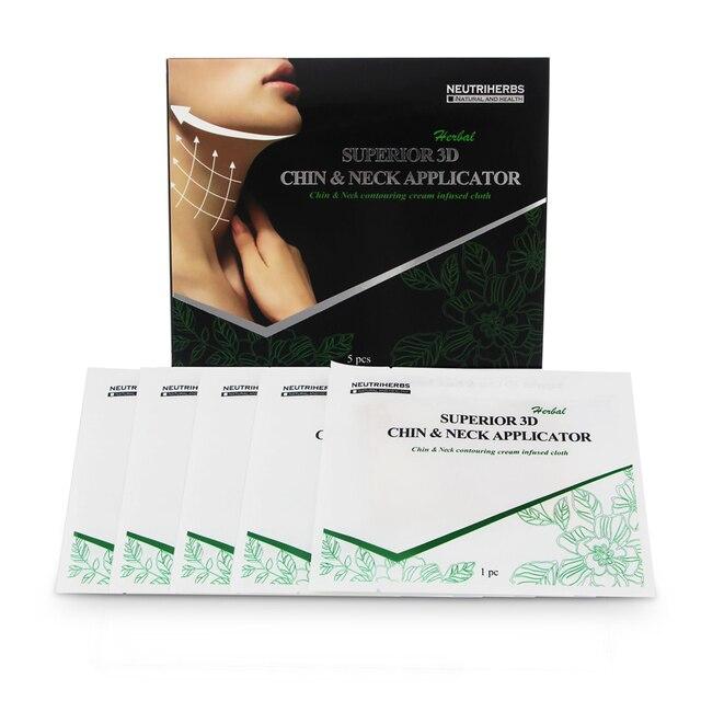 Superior 3d chin y aplicadora cuello 2015 nuevo producto caliente oem neutriherbs funciona para la cara v-line mascarilla 5 unids/pack