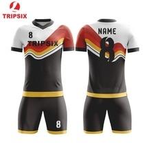 Новые красные черные полоски цена за дизайн спортивная одежда футбольное Джерси на заказ для мужчин