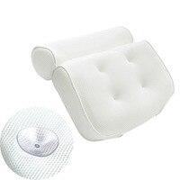 LUOEM дышащая 3D сетка подушка для ванны спа с присосками шеи и спины Поддержка спа-подушка для гидромассажная Ванна