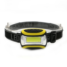 New Arrival Light-weight COB LED Waterproof Mini Head Light Lamp 3-Modes 3*AAA Operated Headlight Head Torch For Camping
