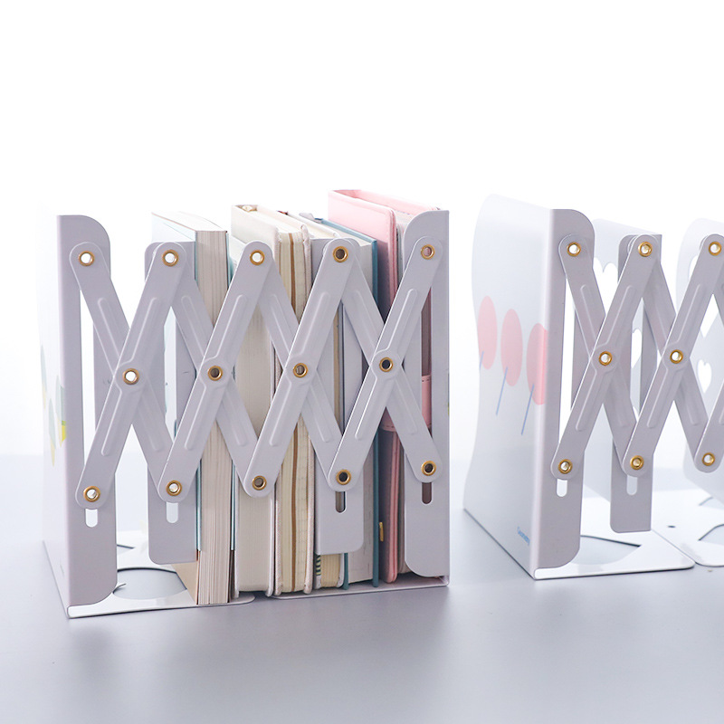 Office & School Supplies Bookends 2018 Newest Scalable Book Stand Creative Student Bookshelf Bookcase Folding Bookends Flexible Desktop Storage Rack
