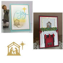 Eastshape Dies Cutting Christmas Birth Jesus Metal For DIY Scrapbooking Album Embossing Card Paper Crafts New Stencil