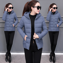 2019 Women New Down cotton Winter Hooded Jacket Coat Warm Loose Short O