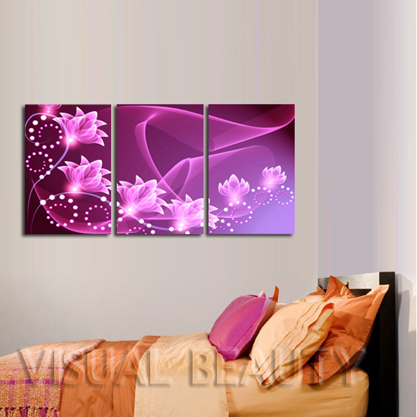 FREE SHIPPING Beautiful Flower Designs To Paint On Canvas Wall Decoration Oil PaintingUnframed