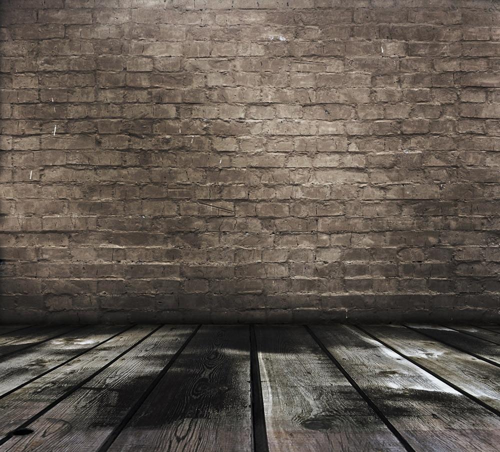 ФОТО SHENGYONGBAO 8x8FT  Brick Wall & Wooden floor theme Vinyl Custom Photography Backdrops BW157