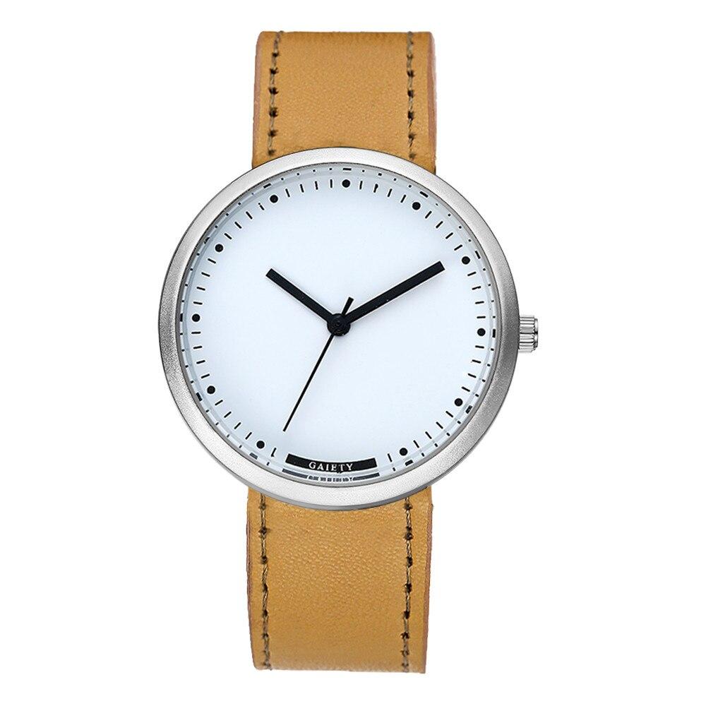 Simple Casual Men Women Watches Charm Quartz Watch Wholesale Hot Sale PU Leather Classy Clock Relogio Feminino Gift kol saati