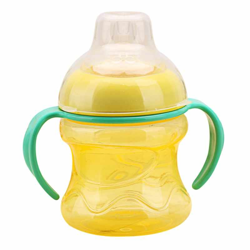 ซิลิกาเจลขวดนมถ้วยสำหรับทารกขวดนมขวดนมเด็กทารกการฝึกอบรมพร้อมถ้วย