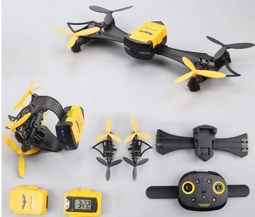 Mini Drone pliable CX-70 avec caméra HD montre jouet WiFi FPV caméra démontable portable g-sensor RC quadrirotor jouets pour enfant cadeau