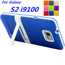 Ultra-thin PC Frame Soft Case Cover S2 i9100 TPU Silicon Case For Samsung Galaxy S2 Matte Feeling Capa Fundas Free One Film