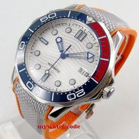 41mm bliger white dial luminous deployment clasp sapphire glass date automatic mens watch 229
