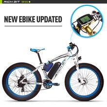 RT-012 RichBit Plus Ebike Bicicleta LED Equipo de Nieve de Gran Alcance Bicicleta eléctrica 21 Velocidad 17AH 48 V 1000 W Eléctrico Fat Tire bicicleta