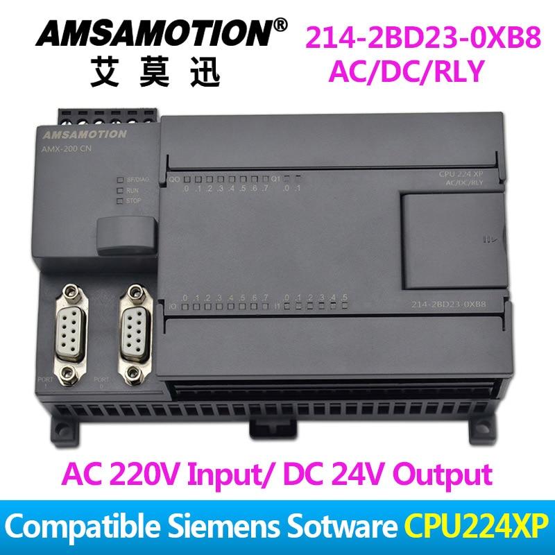 Promotion!!! Amsamotion PLC S7-200CN CPU224XP 14I/10O 2AI 1AO AC/DC/RLY 6ES7 214-2BD23-0XB8 plc programming 6es7212 1ab23 0xb8 cpu222 conditition contact