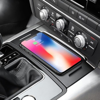 For Audi A6 C7 A7 2012 2018 car QI wireless charging phone charger phone holder charging panel plate accessories for iPhone 8 X