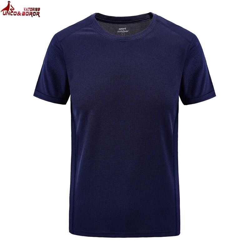 UNCO&BOROR plus size L~6XL 7XL 8XL summer Brand   T  -  Shirt   Men Quick Dry Slim Fit   T  -  shirt   Men Short sleeve   t     shirts   sporting Cloth