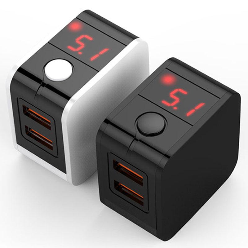 LED Display 2 USB Charger Universal Mobis
