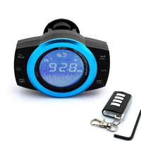 LCD Motorcycle Alarm Audio Speakers Support TF card USB MP3 Player+ FM radio+Security Alarm System Waterproof Theft Protection