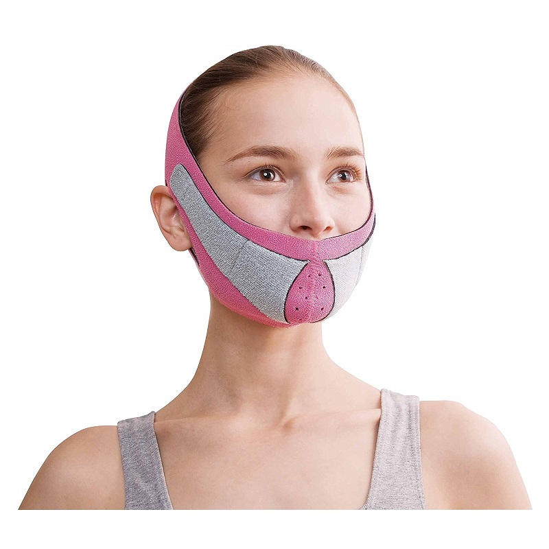 Japan Cogit Beauty Face Lift Mask for Nasolabial folds Lift Face Line Belt Strap Anti wrinkles Sauna face support Face Slimming v face lift up tape anti wrinkles aging double chin removal belt slimming lifting face slimmer mask bandage wrap